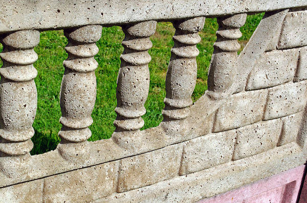 Photograph - Sculpted Spiral Concrete Retaining Fence by Tikvah's Hope