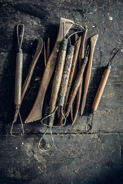 Art Object Photograph - Sculpting Tools by Alexd75