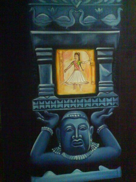 Wall Art - Painting - Sculptur Painting by Gayatri Maheshwari