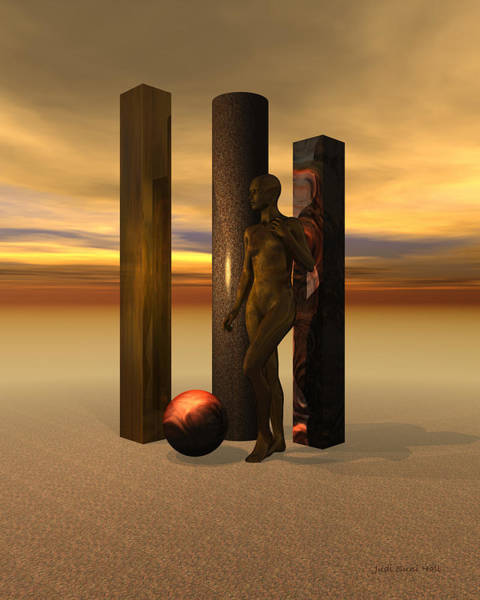 Digital Art - Sculpture Garden Nude by Judi Suni Hall
