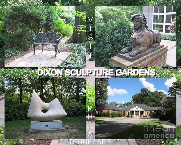 Wall Art - Digital Art - Sculpture Garden Postcard by Karen Francis