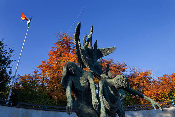 County Dublin Photograph - Sculpture Of The Children Of Lir by Panoramic Images