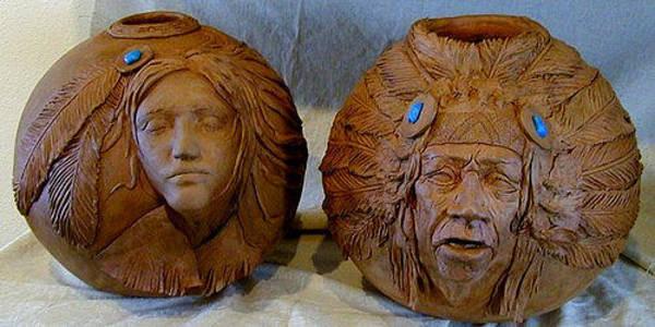 Sculpture - Sculptured Vases by Tim  Joyner