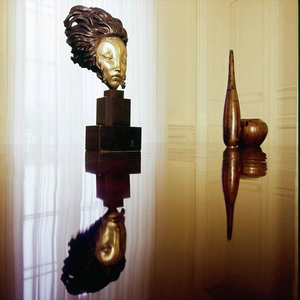 Wall Art - Photograph - Sculptures In Karl Lagerfeld's Apartment by Horst P. Horst