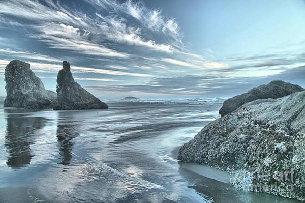 Photograph - Sculptures On The Shore by Adam Jewell