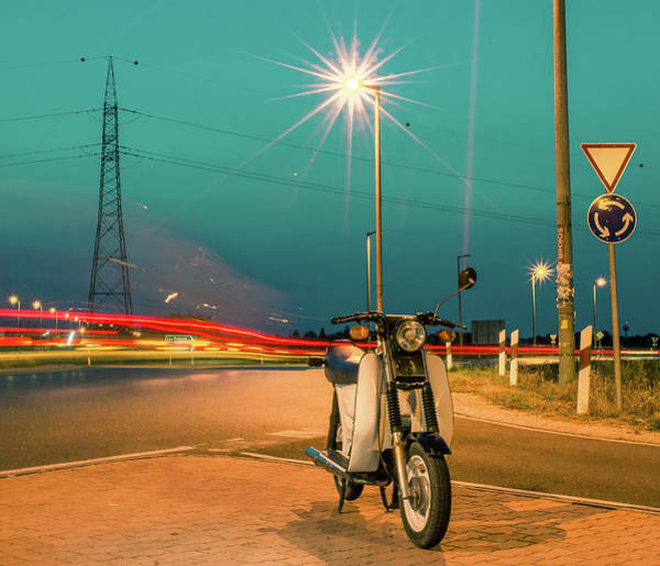 Wall Art - Photograph - Scuter Or Motorcycle by ...