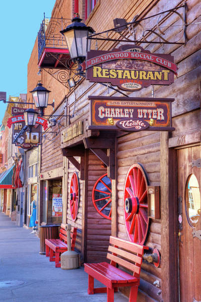 Gold Mine Photograph - Sd, Deadwood, Main Street, Historic by Jamie and Judy Wild