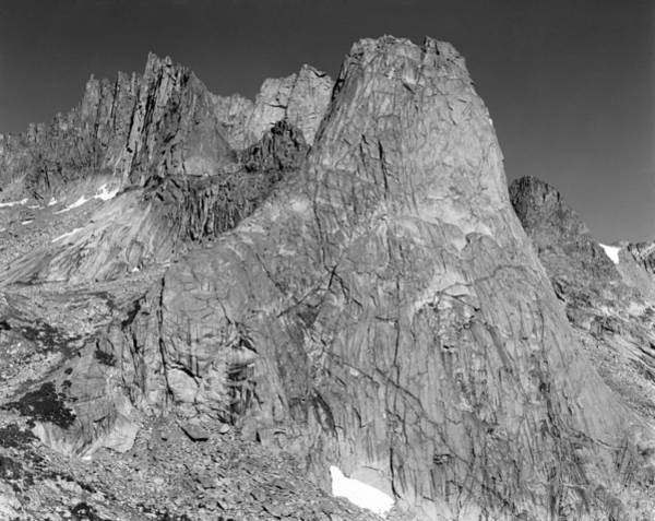 Photograph - 209620-bw-se Face Pingora Peak, Wind Rivers by Ed  Cooper Photography