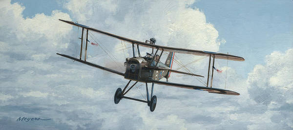 Air War Painting - Se5a 1918 by Wade Meyers