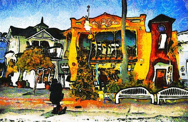 Park Bench Digital Art - Sea Barn Avila Beach California by Barbara Snyder