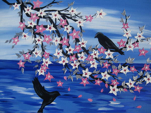 Cathy Painting - Sea Blossoms by Cathy Jacobs