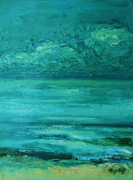 Mary Wolf Painting - Sea Blue by Mary Wolf