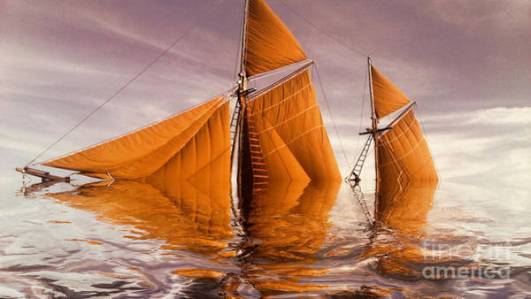 Shipwreck Digital Art - Sea Boat Collections - Naufrage  C02 by Variance Collections