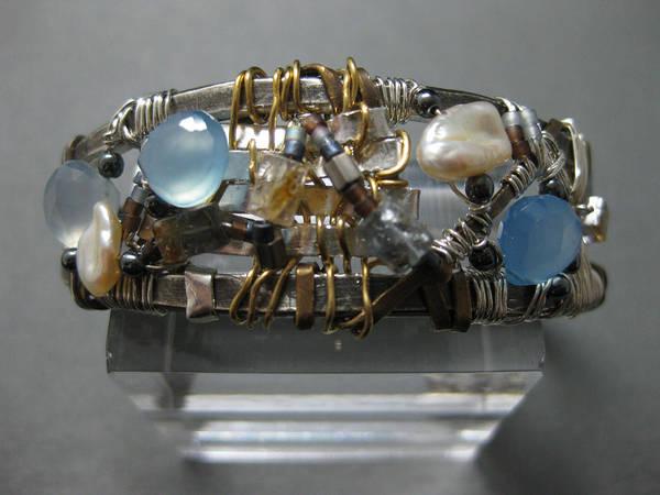 Freshwater Pearls Wall Art - Jewelry - Sea Bracelet by Brenda Berdnik