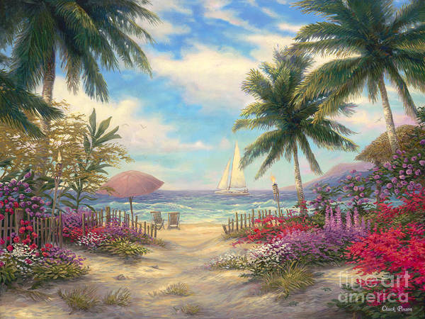 Caribbean Wall Art - Painting - Sea Breeze Path by Chuck Pinson