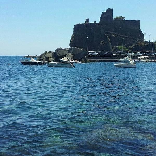 Wall Art - Photograph - #sea #catania #mare #nature #landscape by Alessio De Marco Giglio