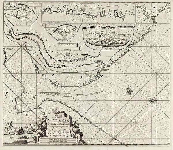 Polar Bear Drawing - Sea Chart Of Part Of The Coast Of The Kola Peninsula by Jan Luyken And Johannes Van Keulen (i)