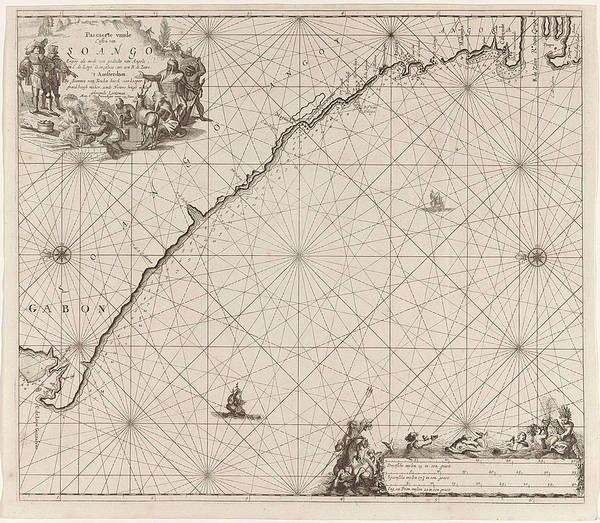 Hoof Drawing - Sea Chart Of The Coast Of Congo, Gabon And Angola by Gabon And Angola And Anonymous And Johannes Van Keulen (i)