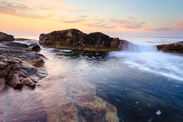 Narragansett Photograph - Sea Fall by Bryan Bzdula