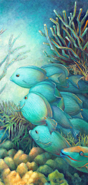 Wall Art - Painting - Sea Folk IIi - Blue Tang by Nancy Tilles