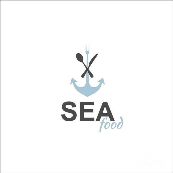 Wall Art - Digital Art - Sea Food Logo by Jelenaa