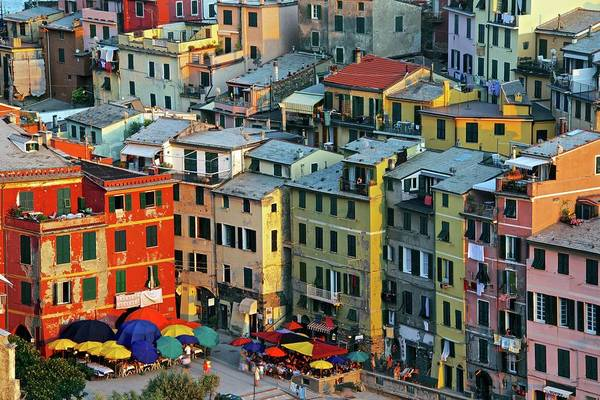 Vernazza Photograph - Sea Front, Vernazza by Trevor Cole Alternative Visions Photography