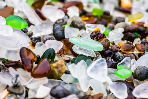 Photograph - Sea Glass Close Up by Priya Ghose