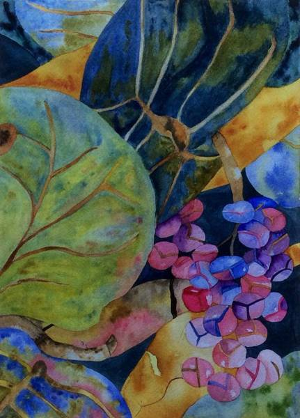 Art Print featuring the painting Sea Grapes by Patti Ferron