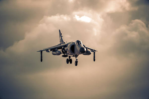 Av-8 Photograph - Sea Harrier At Dusk by Chris Smith