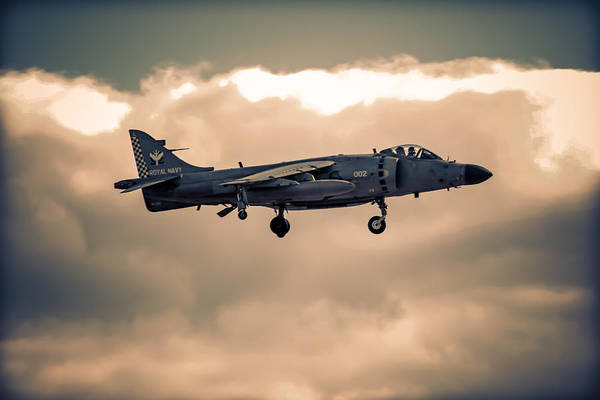 Av-8 Photograph - Sea Harrier Silhouette by Chris Smith