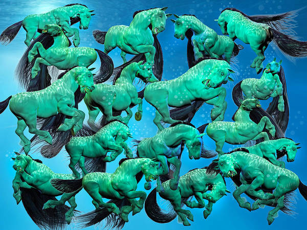 Wall Art - Digital Art - Sea Of Chaos by Betsy Knapp