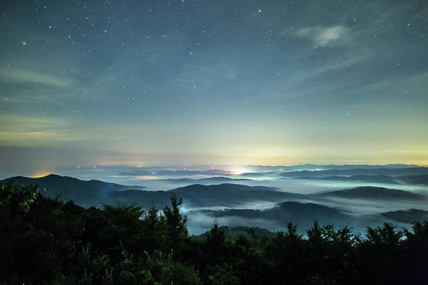 Okayama Prefecture Photograph - Sea Of Clouds Under The Stars by Trevor Williams