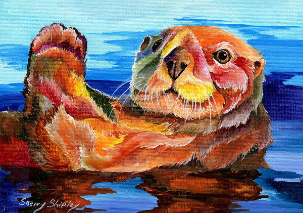 Painting - Sea Otter by Sherry Shipley