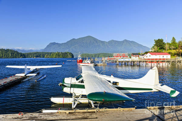 Wall Art - Photograph - Sea Planes At Dock In Tofino by Elena Elisseeva
