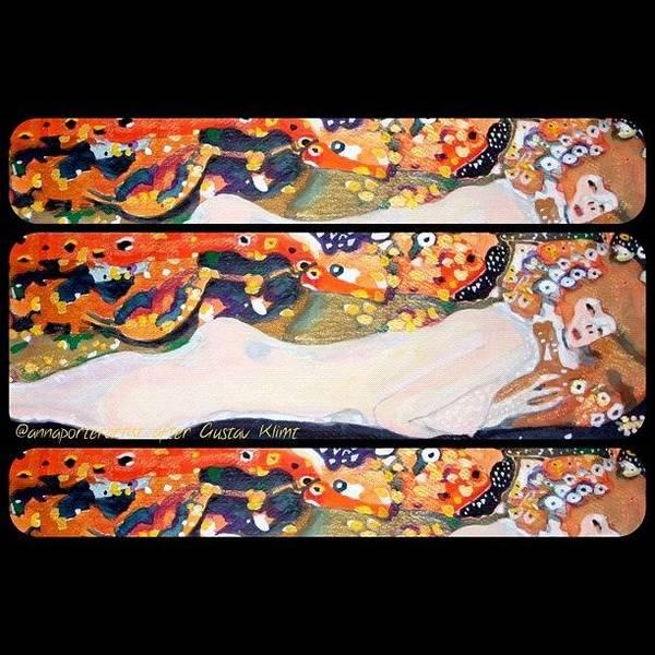 Sea Serpent IIi Tryptic After Gustav Klimt Art Print