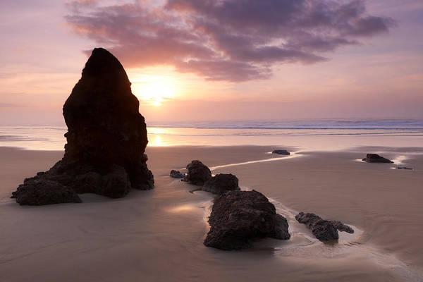 Sea Stack Sunset Art Print