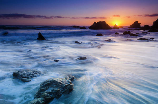 Matador Photograph - Sea Stacks At Sunset, El Matador State by Russ Bishop