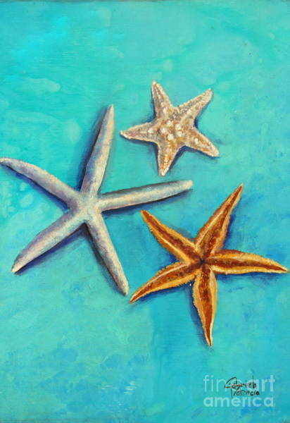 Wall Art - Painting - Sea Stars Fantasy by Gabriela Valencia