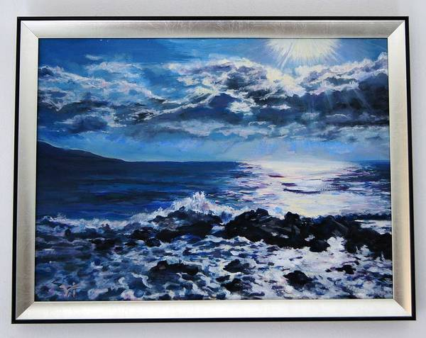 Wall Art - Painting - Sea Sunrise - Oil Painting by Ivelin Vlaykov
