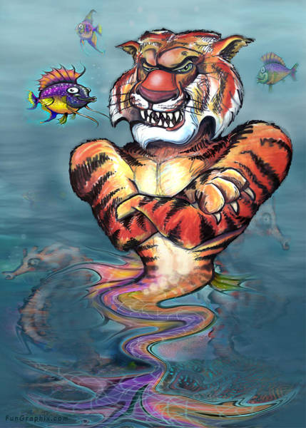 Painting - Sea Tiger by Kevin Middleton