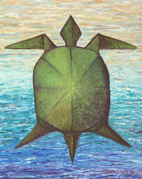 Origami Painting - Sea Turtle by Mary Phillip