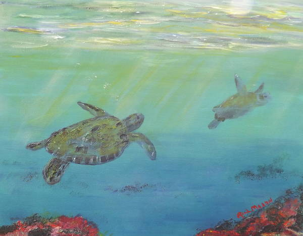 Wall Art - Painting - Sea Turtles by Rich Mason