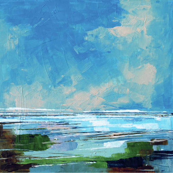 Skyscape Painting - Sea View 2 by Stuart Roy