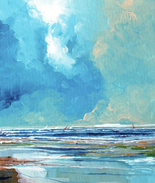 Skyscape Painting - Sea View On Board 1 by Stuart Roy