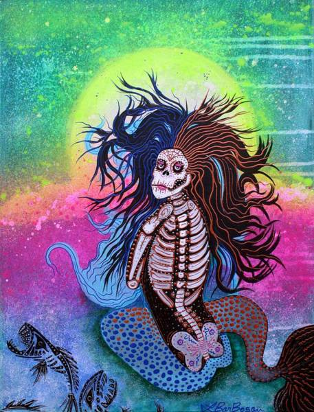 Wall Art - Painting - Sea Witch by Laura Barbosa