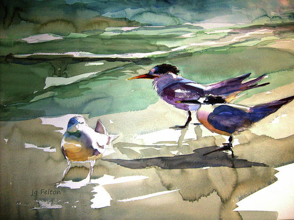 Painting - Seabirds  1  by Julianne Felton