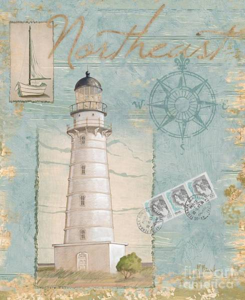 Wall Art - Painting - Seacoast Lighthouse II by Paul Brent
