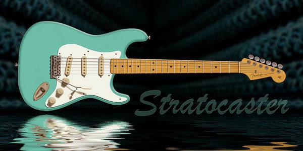 Strat Photograph - Seafoam Green Stratocaster by WB Johnston