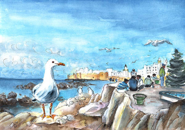 Painting - Seagull In Essaouira In Morocco by Miki De Goodaboom