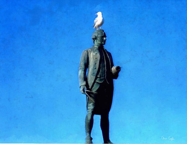Captain Cook Digital Art - Seagull On The Head by Chris Coyle